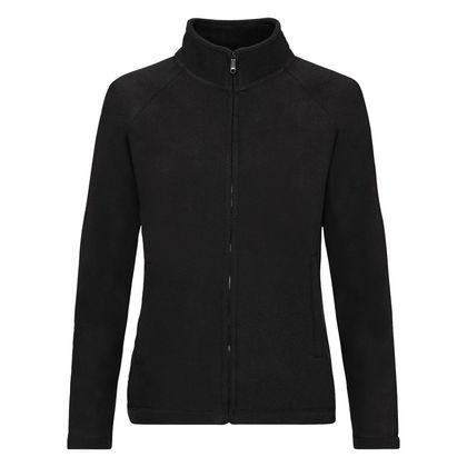 Поларено дамско яке в черно С62-4