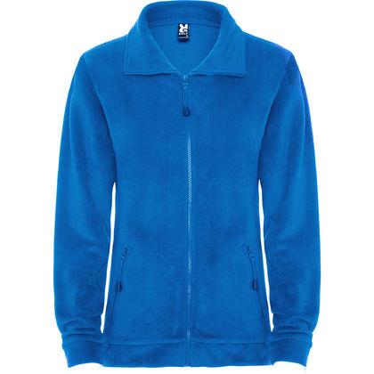 Синьо дамско яке от топъл полар С362-5