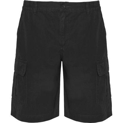 Черни мъжки бермуди с много джобове С1270-2