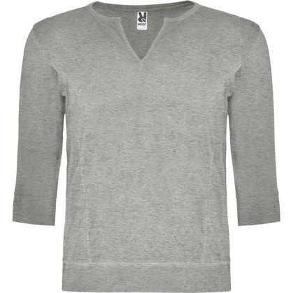 Сива мъжка блуза с 3/4 ръкав С70-2