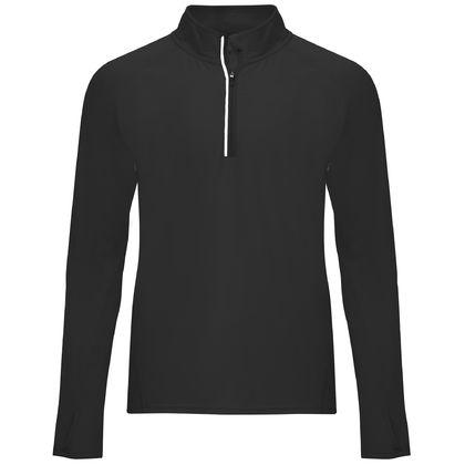Черна спортна блуза за мъже С1773-2