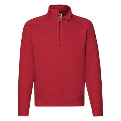 Червена мъжка блуза с висока яка С13-2