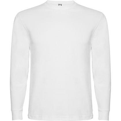 Памучна мъжка блуза в бяло С83-3