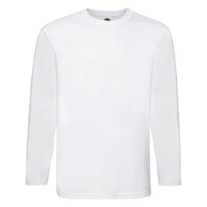 Бяла мъжка блуза от фин памучен плат С69-2