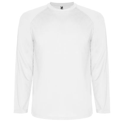 Бяла мъжка блуза от дишаща материя С484-2