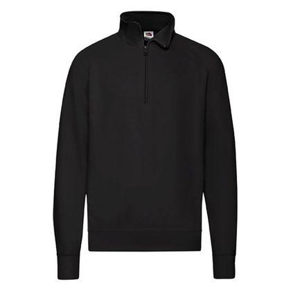 Черна мъжка блуза с висока яка и цип С113-3