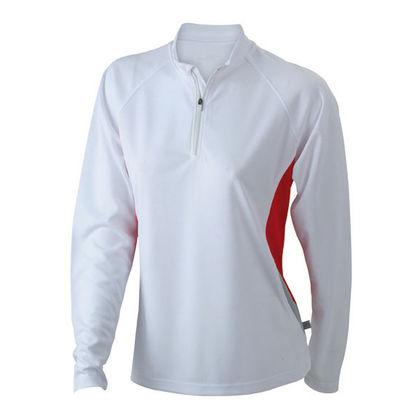 Светлоотразителна дамска блуза с цип С897-2