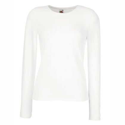 Бяла дамска блуза с ликра С86-2