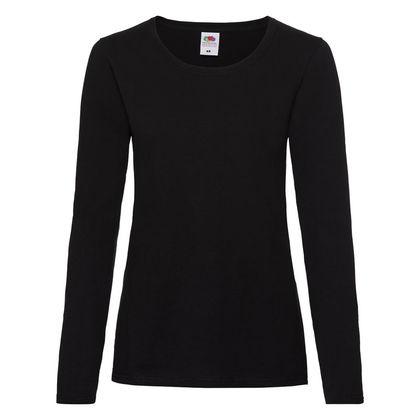 Тънка дамска блуза в черно С184-3