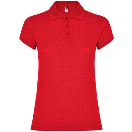 Червена дамска риза с къс ръкав С1186-5