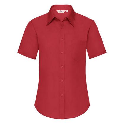 Дамска официална риза с къс ръкав С35-2