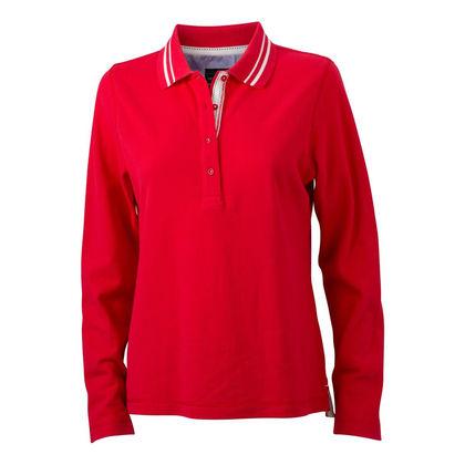 Червена дамска риза с дълъг ръкав С793-2