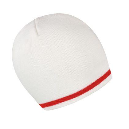 Красива плетена шапка с контрастен кант С2337