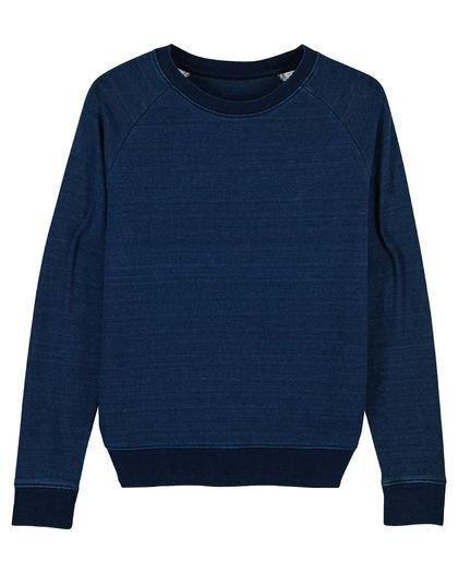 Дамска блуза в цвят индиго С2324