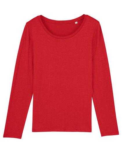 Червена блуза от органичен памук С2321-2
