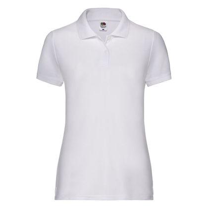 Дамска бяла риза поло пике С47-2