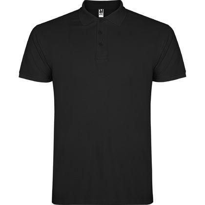 Мъжка черна риза с къс ръкав С1185-1
