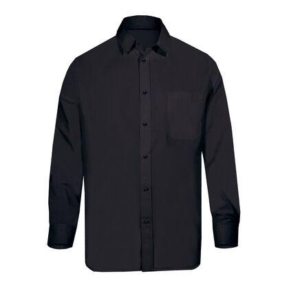 Мъжка официална черна риза С1484-2