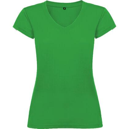 Зелена дамска тениска с остро деколте С1244-5