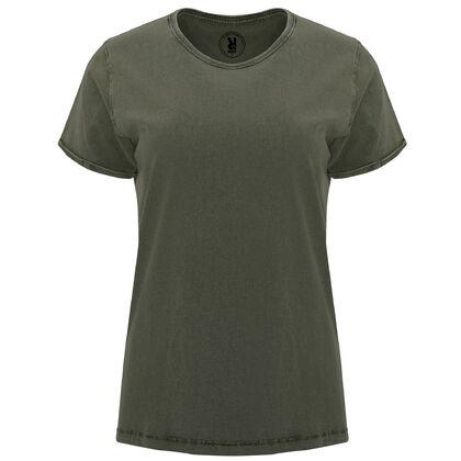 Ефектна дамска тениска цвят олива С1769-3