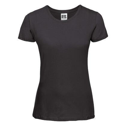 Дамска черна тениска С437-3
