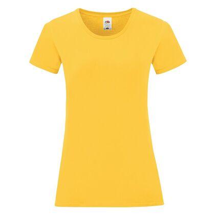 Жълта дамска тениска от пениран памук С1756-4