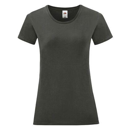 Графитена дамска тениска от пениран памук С1756-8