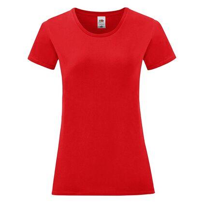 Червена дамска тениска от пениран памук С1756-13