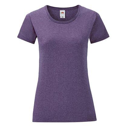 Дамска тениска в лилав меланж С1756-14