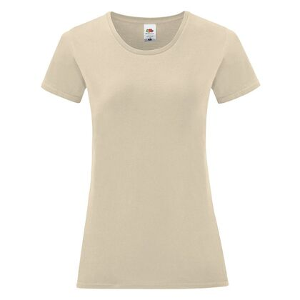 Бежова дамска тениска от пениран памук С1756-16