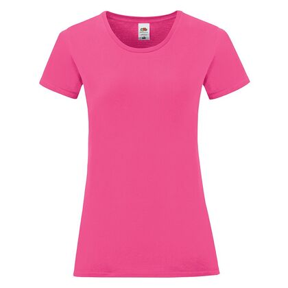 Розова вталена тениска за жени С1756-17