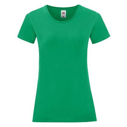 Памучна дамска тениска в зелено С1756-19