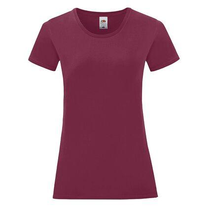 Дамска тениска в цвят бургунди С1756-20