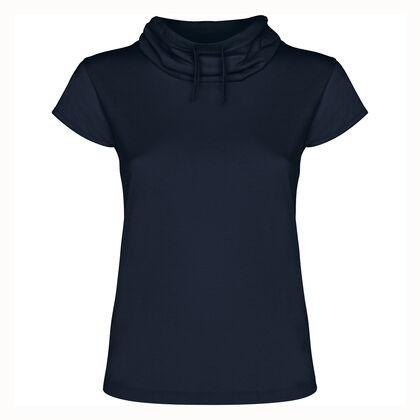 Тъмно синя дамска блуза с шал яка С482-2