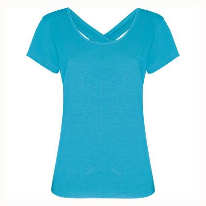 Еластична дамска блуза с гол гръб С55-4
