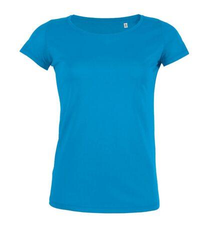 Светло синя дамска тениска от Био памук С116-2