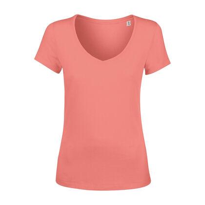 Нежна дамска тениска в цвят фламинго С1353-2