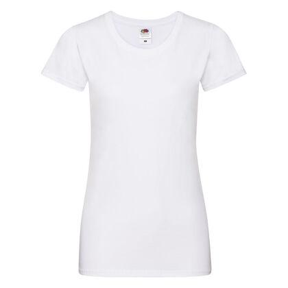 Много мека дамска тениска в бяло С525-8
