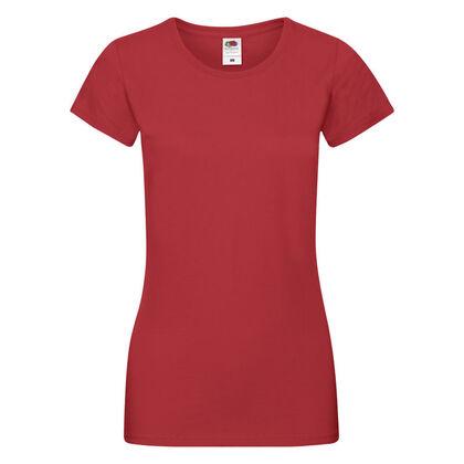 Много мека червена тениска за жени С525-9