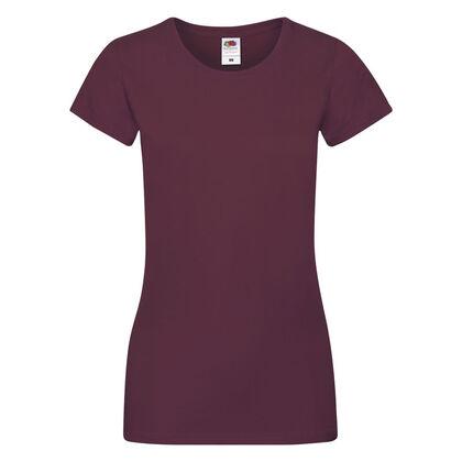 Супер мека дамска тениска в цвят бургунди С525-10