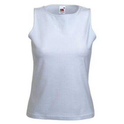 Дамска бяла тениска без ръкав С337-2