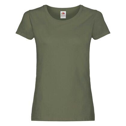 Ежедневна дамска тениска в цвят олива С75-7