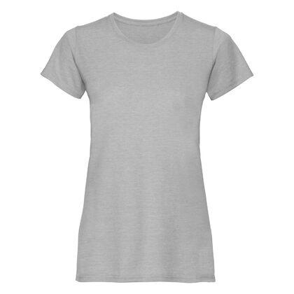 Светло сива дамска блуза с къс ръкав С466-5