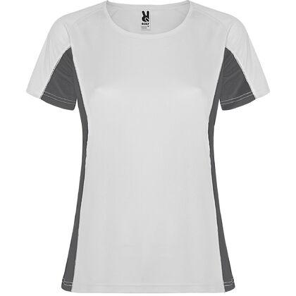 Дамска спортна тениска бяло на сиво С1177-2