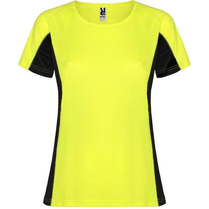 Неоново жълта спортна тениска за жени С1177-3