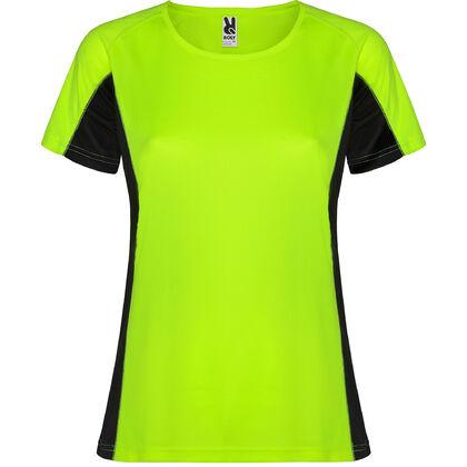 Неоновo зелена спортна тениска за жени С1177-4