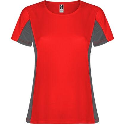 Дамска тениска червено на сиво С1177-6