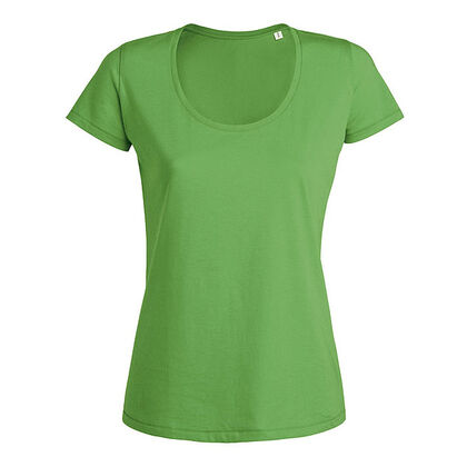 Дамска тениска с дълбоко кръгло деколте С517-2