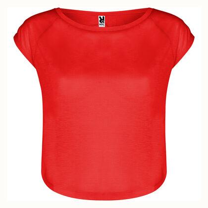 Къса дамска блуза в червено С504-2