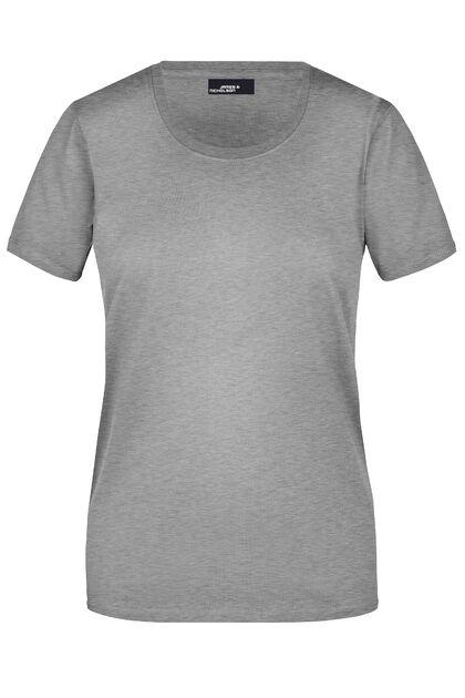 Памучна дамска тениска в сиво С639-2